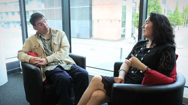 Duncan Honeybourne in conversation with Mari Saeki of the National Autistic Society